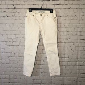 Faded Glory White Velvet Touch Skinny Jeans